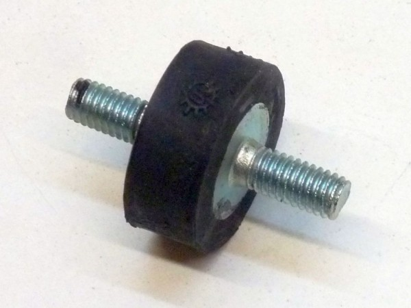 Gummimetallager, Gewinde M6, 15 mm hoch, B1