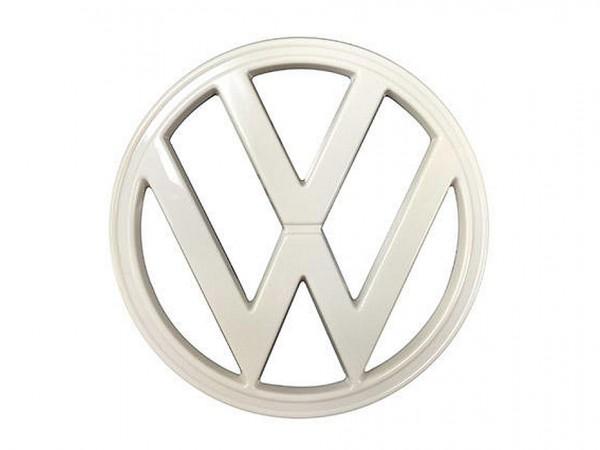 VW-Emblem für Frontmaske, 8/72-, Kunststoff, weiß, B1