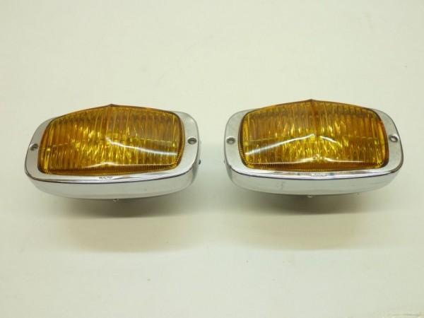 Zusatznebelscheinwerfer, eckig, ohne Fuß, Chrom, gelb, Paar, A3