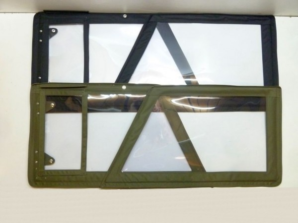 Steckfenster, oliv oder schwarz, 4er-Satz, C1