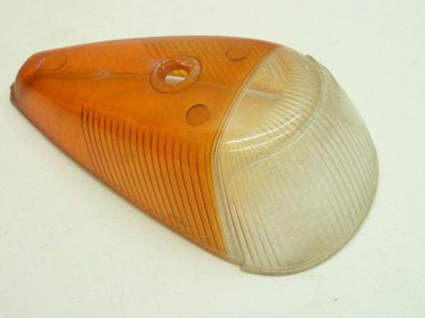 Blinkerglas, weiß-orange (Italien), A3