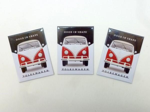 "Magnetschilder ""VW good in shape"", 6x8 cm, 3er-Satz, A1"