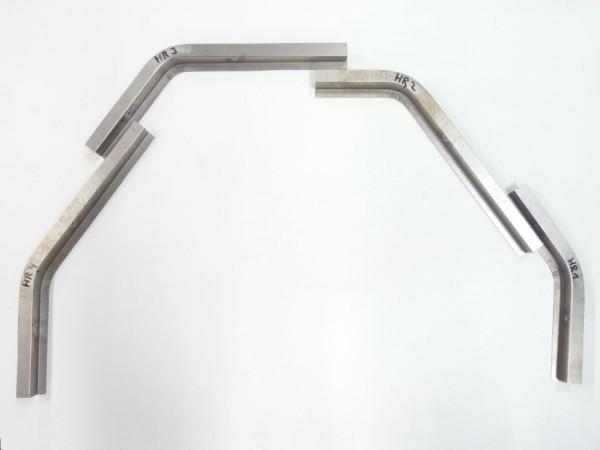 Reparaturbleche für Kotflügelschraubkante, hinten rechts, 4er-Satz, B1
