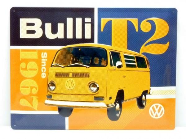 """Blechschild """"VW T2 Bulli"""", 40x30 cm, A1"""