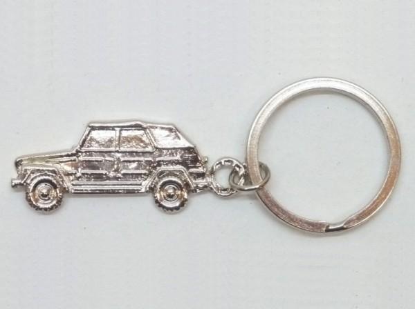 """Schlüsselanhänger """"Kübelwagen, zweidimensional"""", silberfarben, A1"""