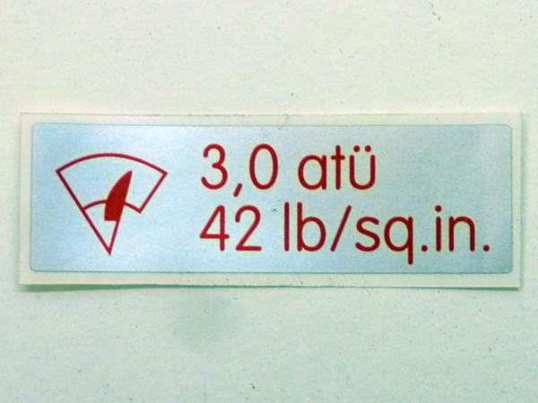 Aufkleber für Luftdruck auf Waschwasserbehälter, B1