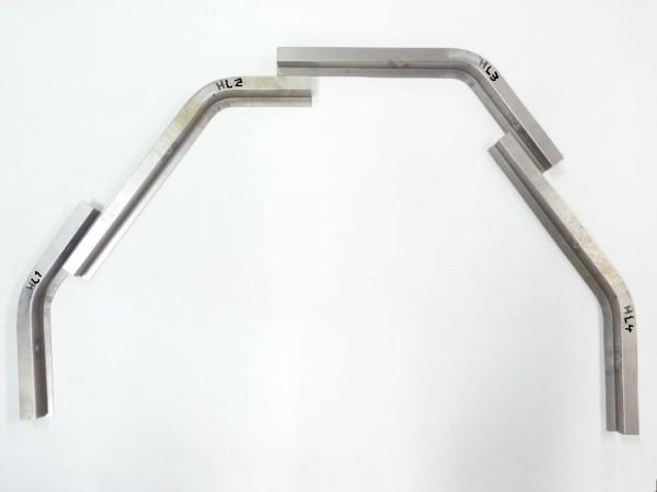 Reparaturbleche für Kotflügelschraubkante, hinten links, 4er-Satz, B1