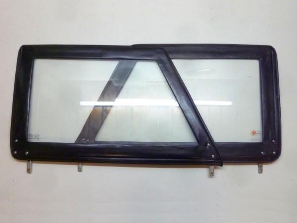 Steckfenster, Echtglas, schwarz, Paar, ohne Schiebefenster, C1