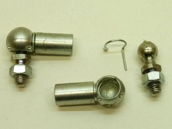 Kugelpfannen + -zapfen für Koppelstange, nicht original, Paar,C1
