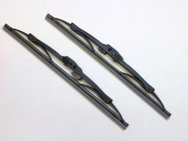 Wischblätter, gefedert, 28 cm lang, schwarz, Paar, A1
