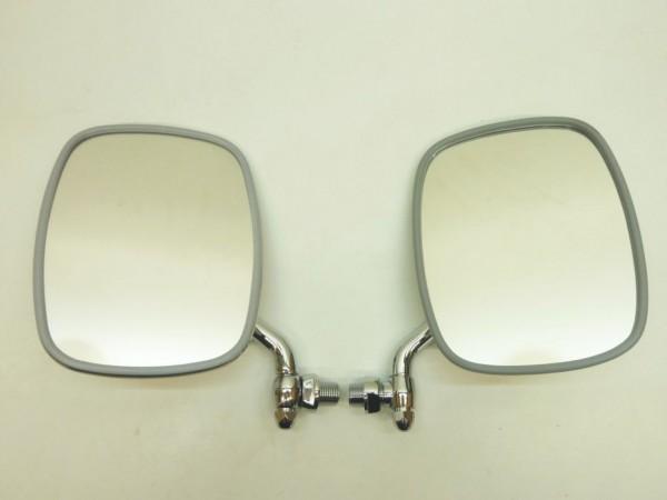 Außenspiegel, kurz, Arm verchromt, Rücken Edelstahl, C1