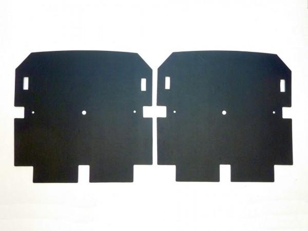 Pappen zw. Lehnengestellen und Bezügen, 8/64-, Paar, B1