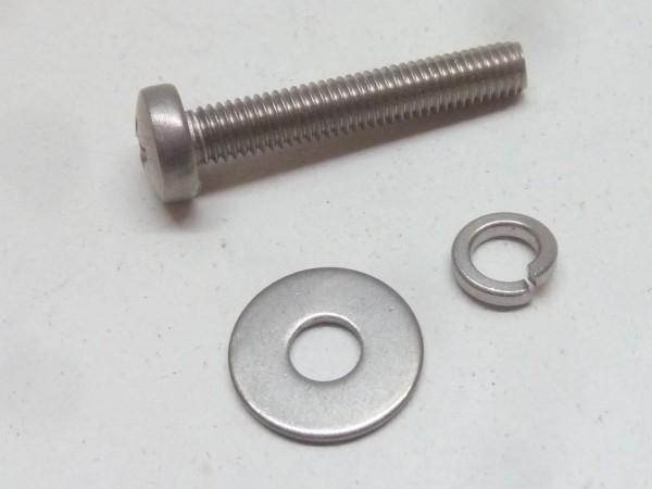 Anbausatz für Motorklappenschloß, Edelstahl, A+1
