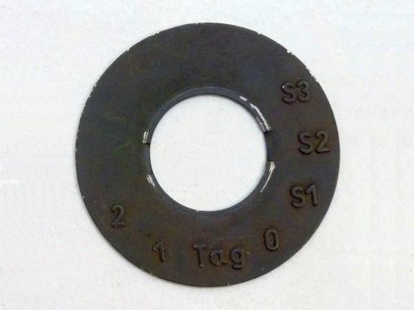 Unterlegplatte für Bundeswehrlichtschalter, A3