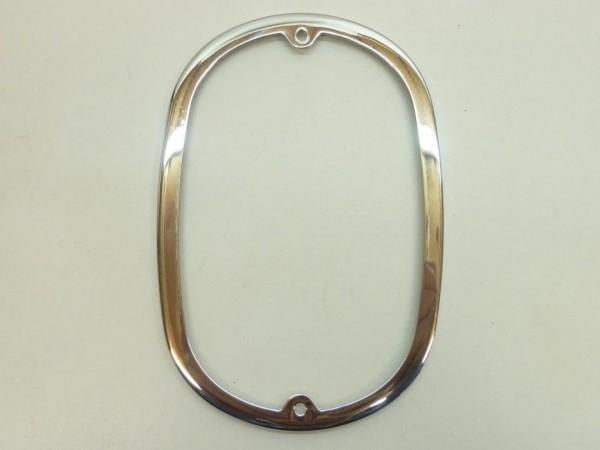 Zierrahmen für Rücklichtglas, Metall, verchromt, A1