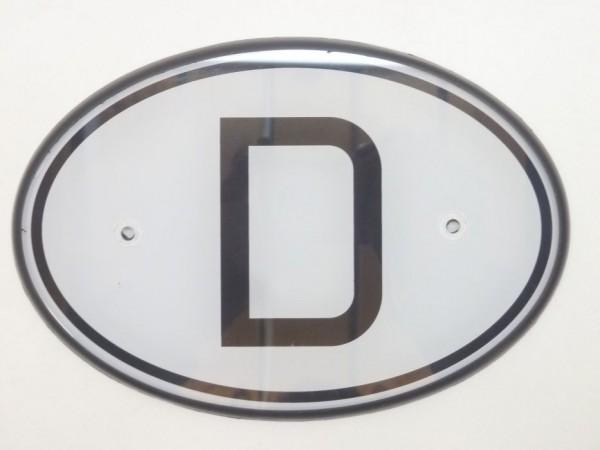 D-Schild, Plexiglas, mit Gummiunterlage, A1