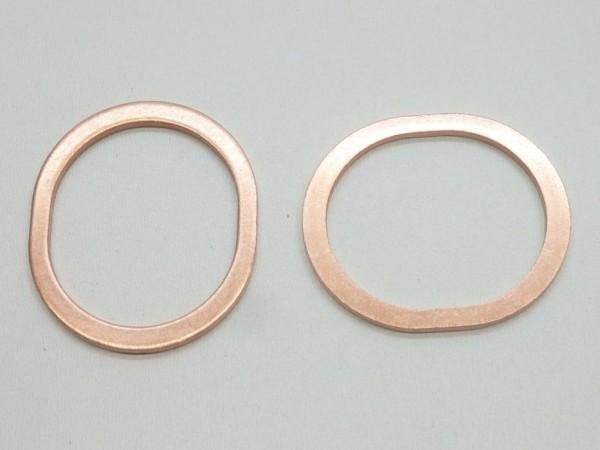 Dichtungen für Wärmetauscher, ovaler Kupferring, Paar, A1