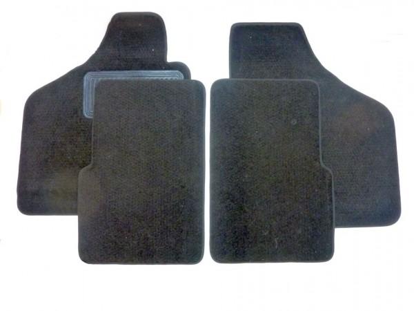 Teppichsatz für Boden, vierteilig, schwarz, B1