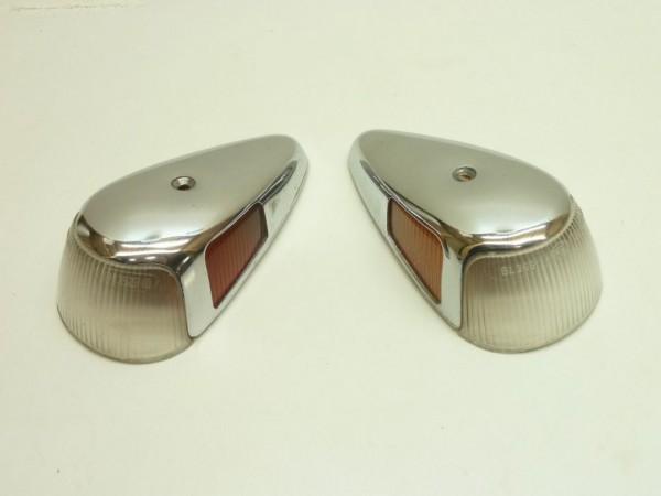 Blinkergläser mit Abdeckungen, italienische Ausführung, Paar, A3