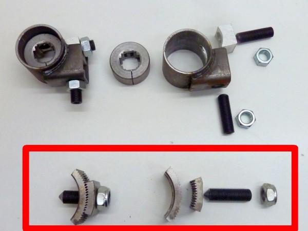 Verstelleinrichtung für Vorderachse, mit Rasterplatten, Paar, A1