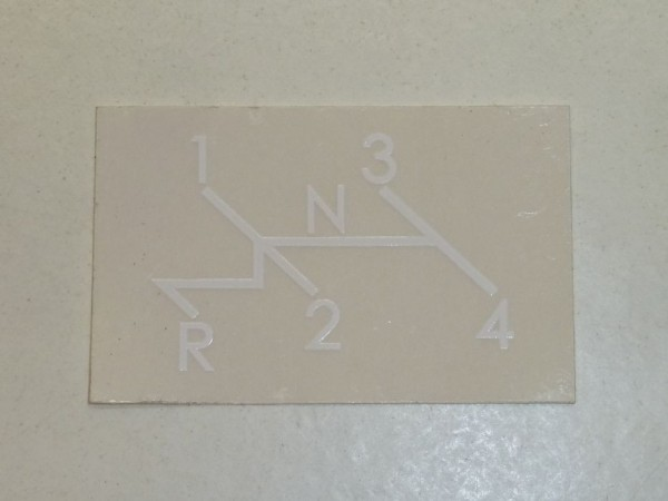 Aufkleber für Schaltschema, weiß, A1