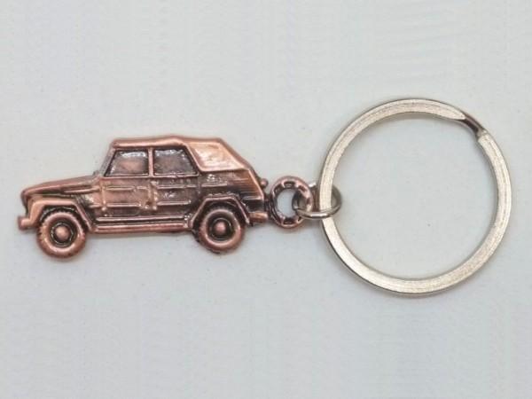 """Schlüsselanhänger """"Kübelwagen, zweidimensional"""", kupferfarben, A1"""
