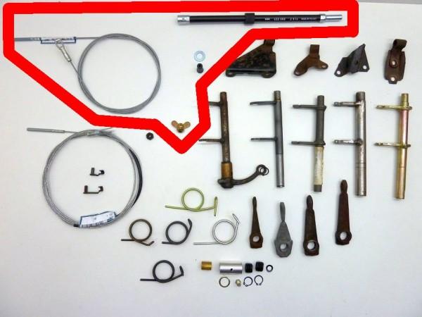 Kupplungsseilkomplettsatz, -1/66 (-FIN 116532999), A1