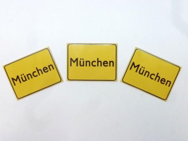 """Magnetschilder """"München"""", 6x8 cm, 3er-Satz, A1"""