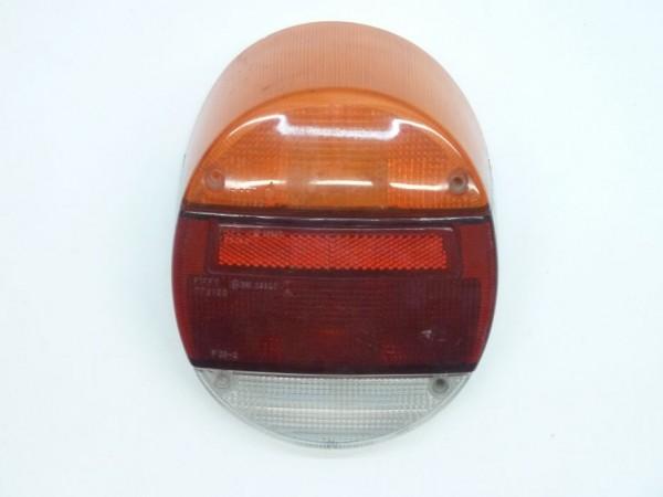 """Rücklichtglas, orange-rot-weiß, """"No Name"""", ohne Prüfzeichen, A3"""