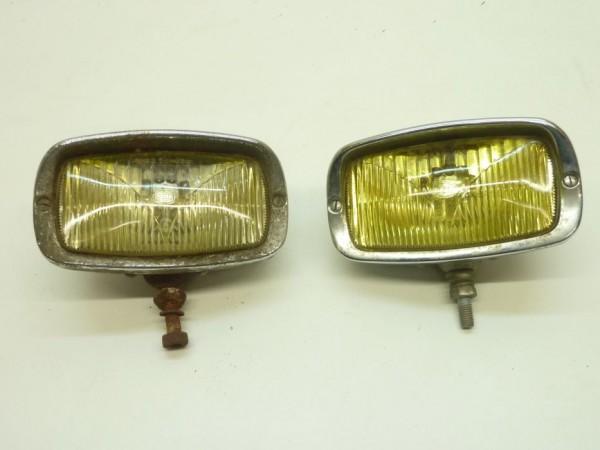 Zusatznebelscheinwerfer, eckig, verchromt, gelb, Paar, A4