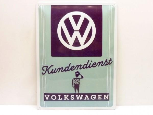 """Blechschild """"VW Kundendienst"""", 30x40 cm, A1"""