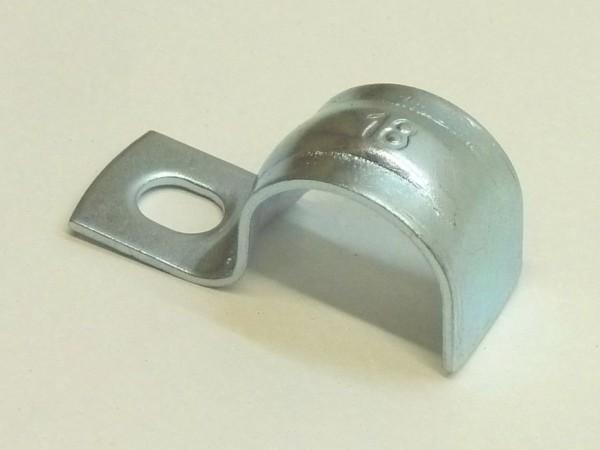 Schelle zum Anschrauben, Ø 18 mm, Loch-Ø 5 mm, A1
