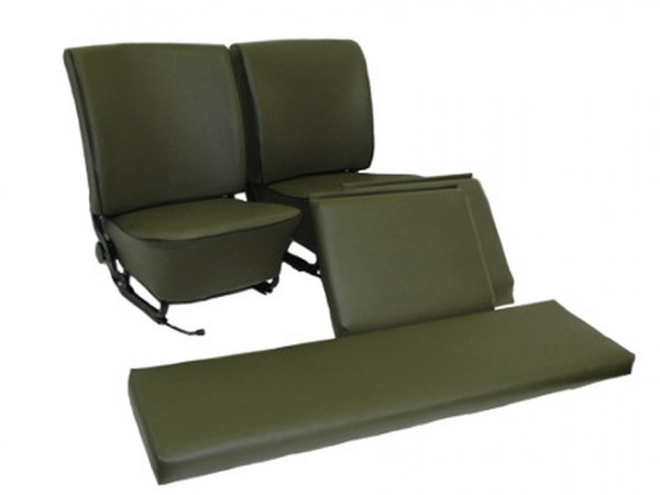 Sitzgarnitur, komplett, olivgrün, B1