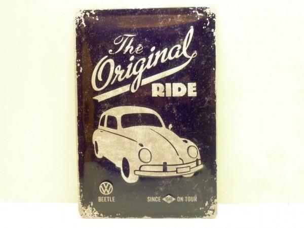 """Blechschild """"VW Beetle - the original ride"""", 20x30 cm, A1"""