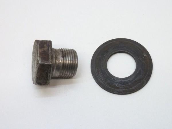 Sechskantschraube, M20x1,5x18, mit Scheibe, A3