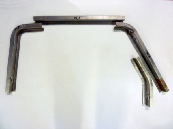 Reparaturbleche für Kotflügelschraubkante, vorne links, 4er-Satz, B1