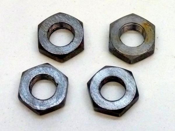Sechskantmuttern, M10x1, flach, SW 17, 4er-Satz, A1