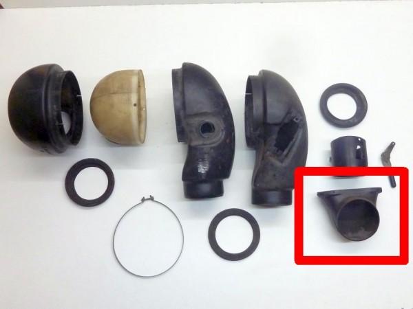 Heizluftrohr im Armaturenbrett, BN 4, A3
