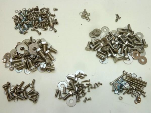 Schraubensatz für Zusammenbau der Karosserie, Edelstahl, A+1