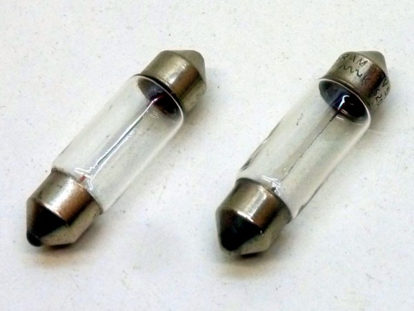 Glühlampen, Soffitten, 12 V/5 W, Paar, A1