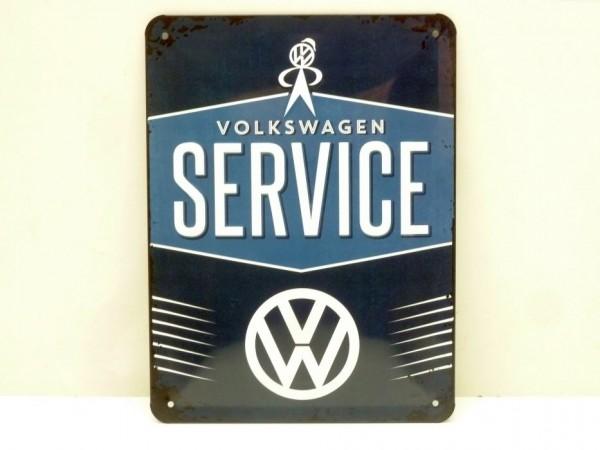 """Blechschild """"VW Service"""", 15x20 cm, A1"""
